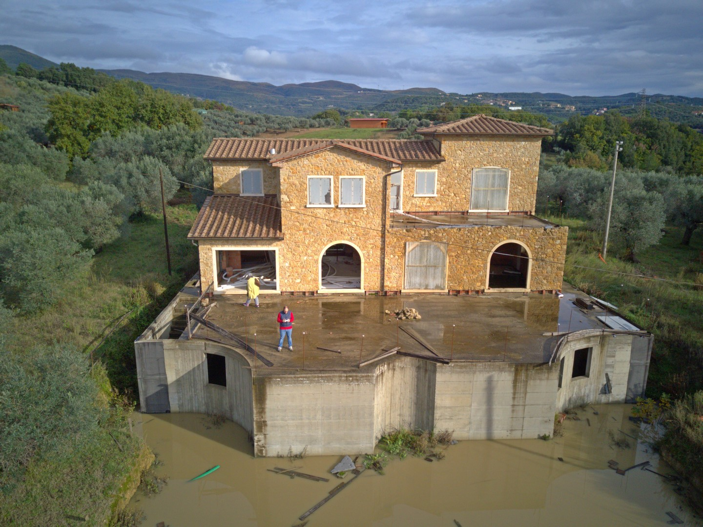 Villa raw construction near Riparbella